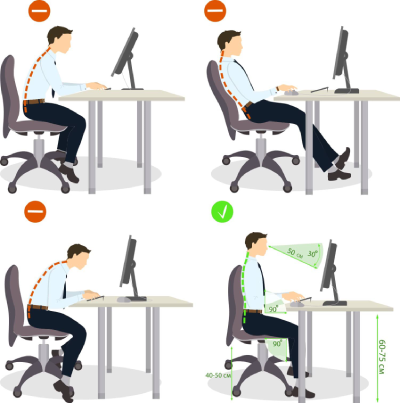 Sitting posture set